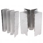 Ветрозащита металлическая складная для газовых горелок и плиток