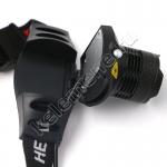 Налобный светодиодный фонарь с линзой и регулируемым фокусом