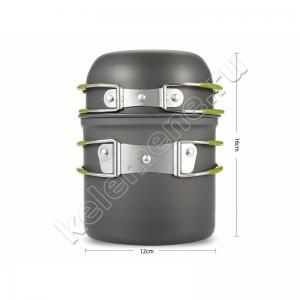 Сверхлёгкий туристический котелок 1 л (котелок и чашка) с антипригарным покрытием