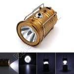 Фонарь-светильник с подзарядкой от сети и от солнечных батарей